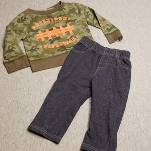 Size 12 Month Cutie Pie Long Sleeve Outfit